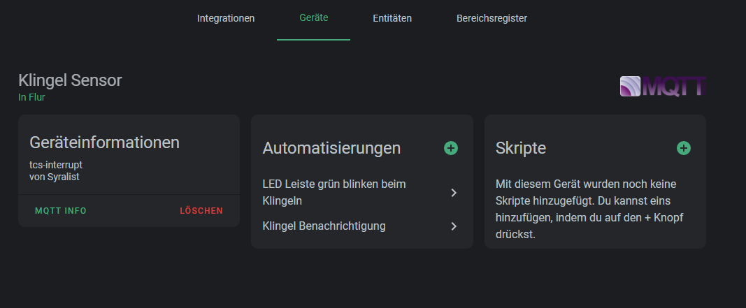 Device in Home Assistant